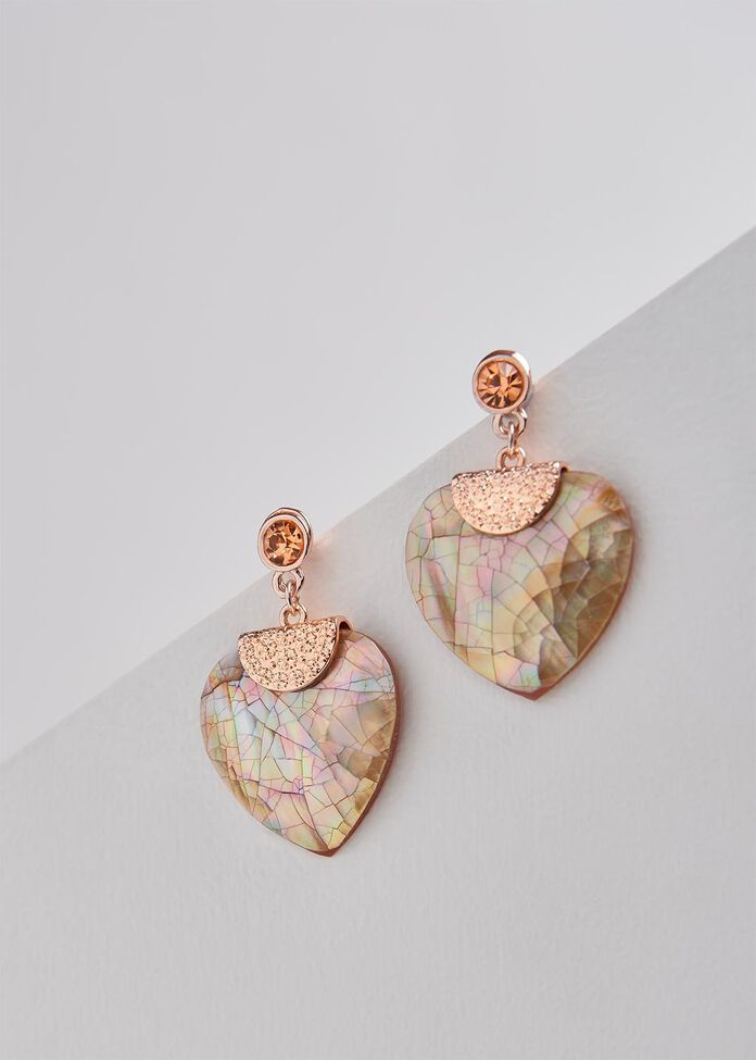 Russet Heart Earrings, , hi-res