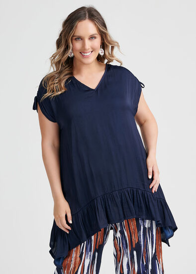Luxe Blue Lady Tunic