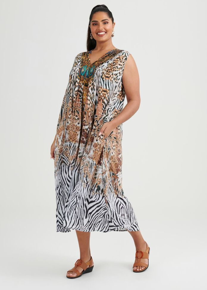 Sagua Maxi Viscose Dress, , hi-res