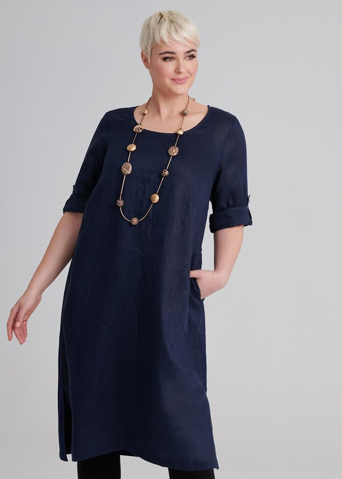 Montagu Linen Dress, , hi-res
