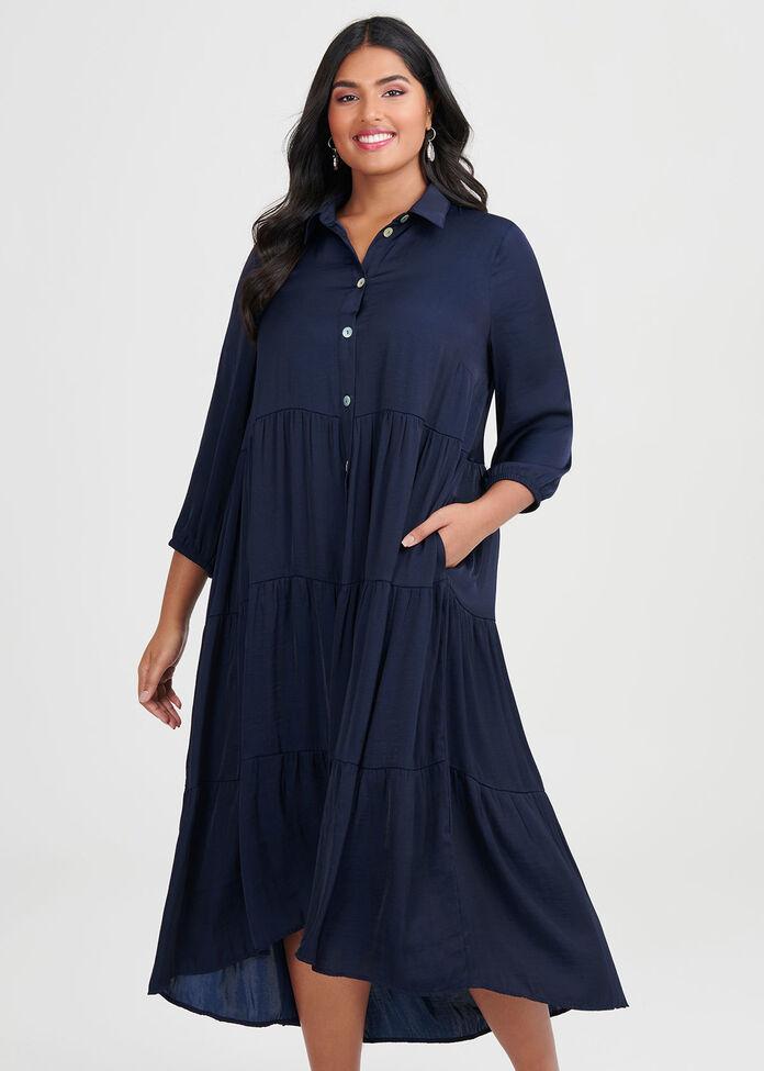 Luxe Bohemian Shirt Dress, , hi-res
