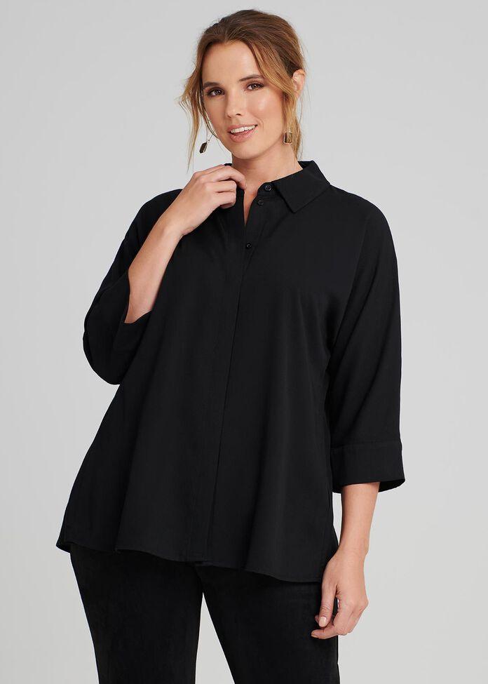 Dolman Lyocell Shirt, , hi-res