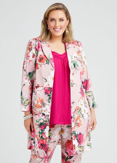Pretty In Pink Linen Jacket
