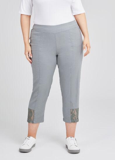 Kiki Linen & Lace Crop Pant