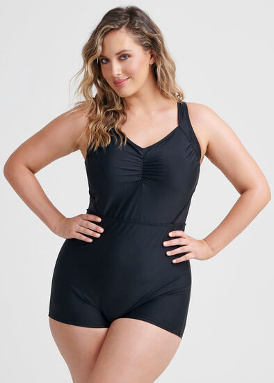 Mesh Boyleg Swimsuit