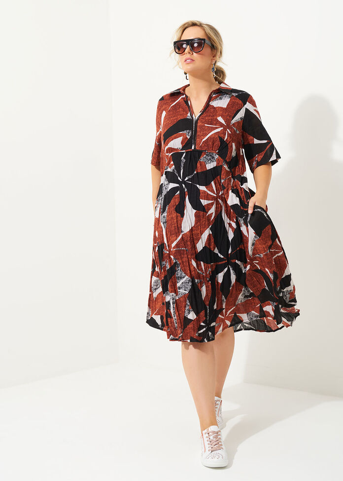 Cotton Earth Dress, , hi-res