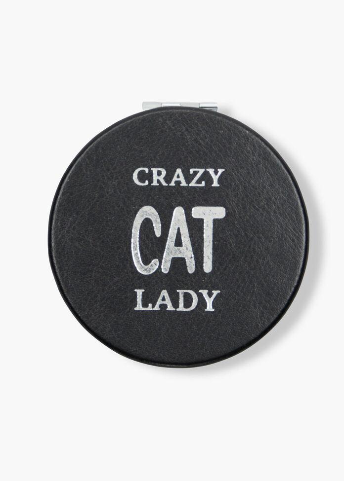 Crazy Cat Compact Mirror, , hi-res