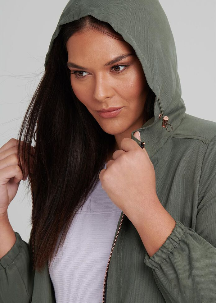Urban Chic Hooded Jacket, , hi-res
