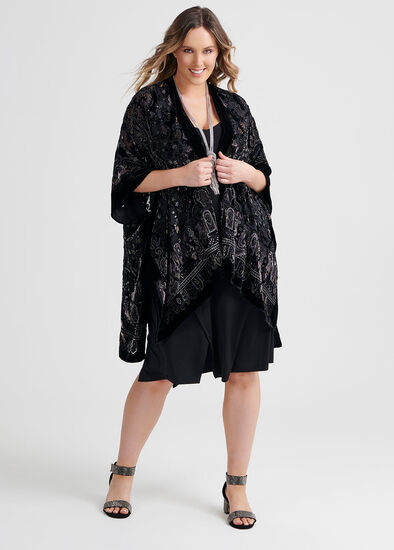 Textured Paisley Cape