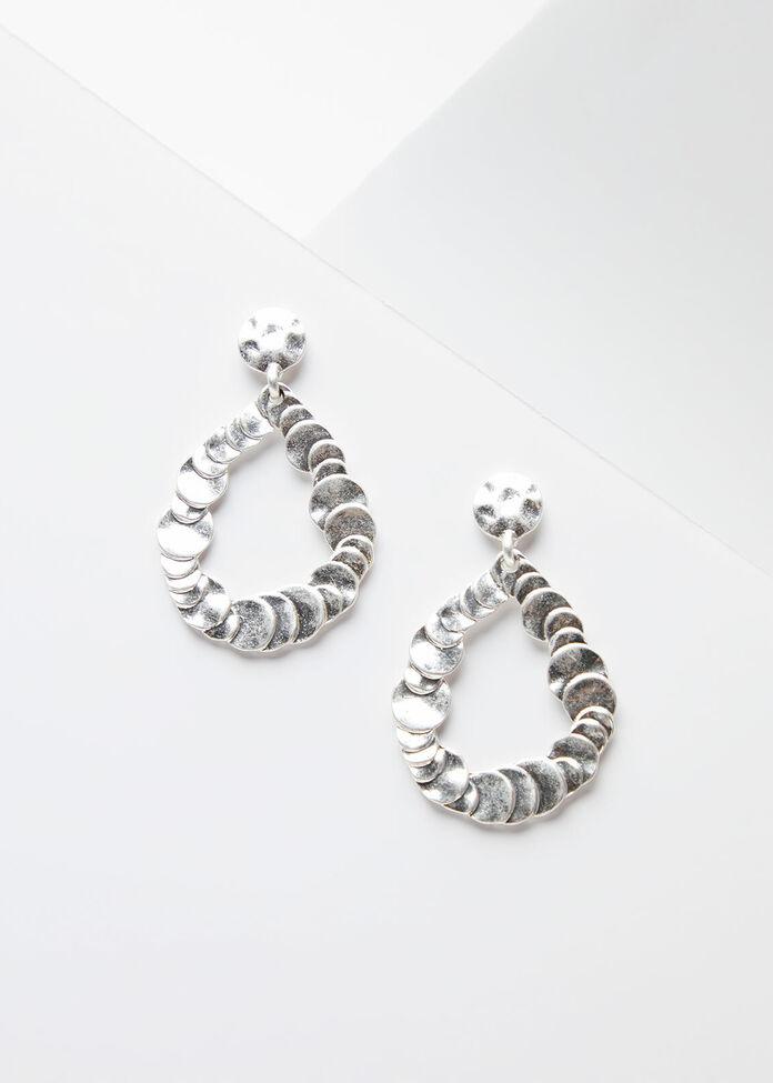 Silver Teardrop Earring, , hi-res