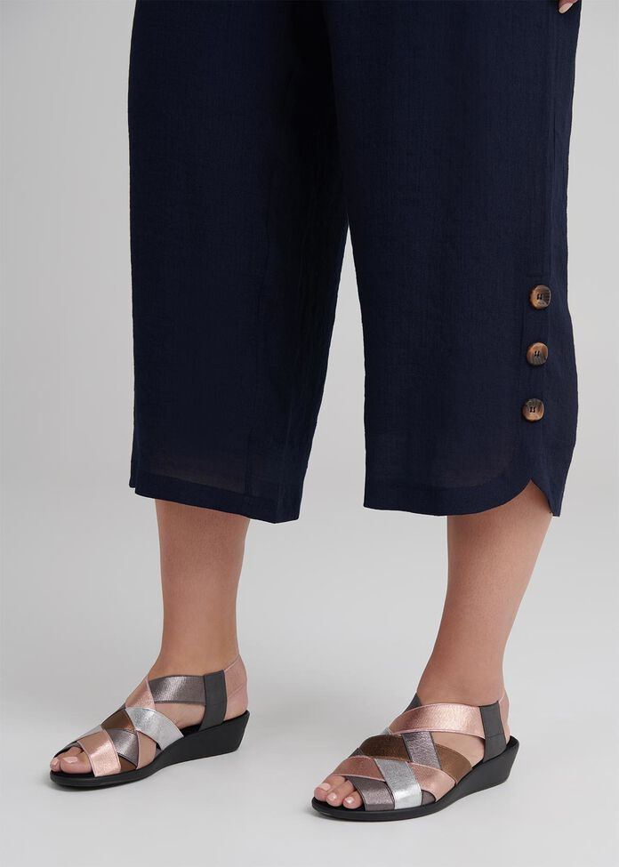 Sahara Button Crop Pant, , hi-res