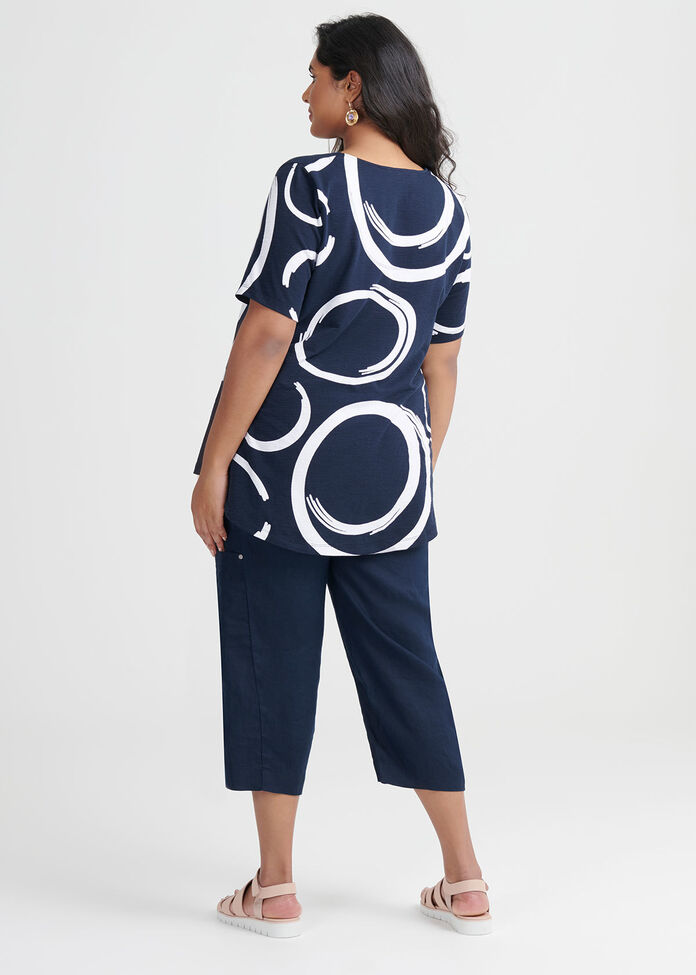 Cotton Abstract Swirl Top, , hi-res