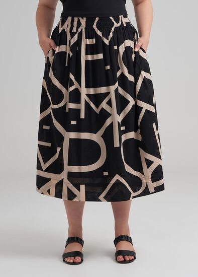 Script Cotton Skirt