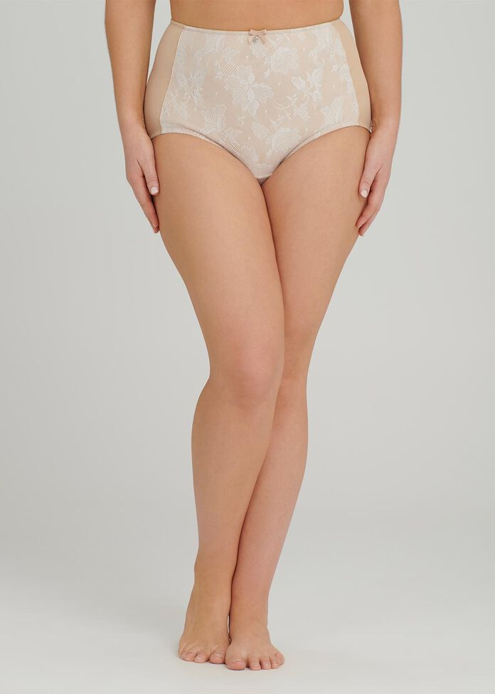 Smooth Lace Panel Brief, , hi-res