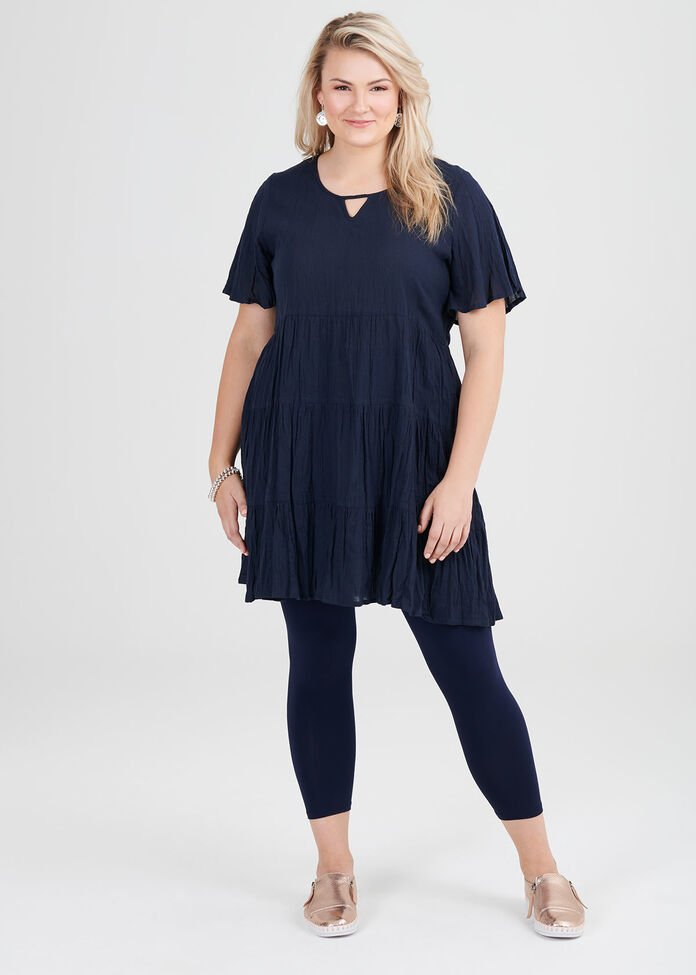 Cotton Tiered Tunic, , hi-res