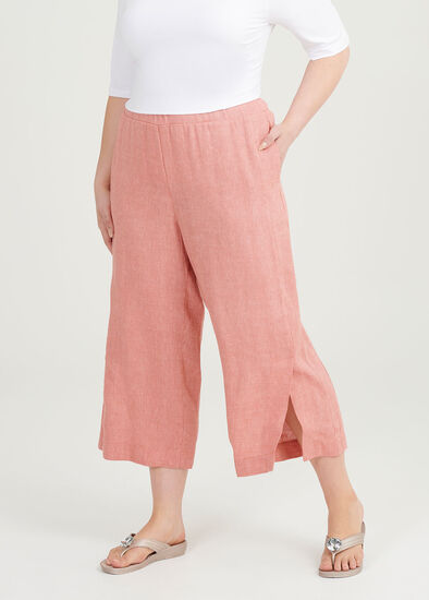 Tigers Eye Linen Crop Pant