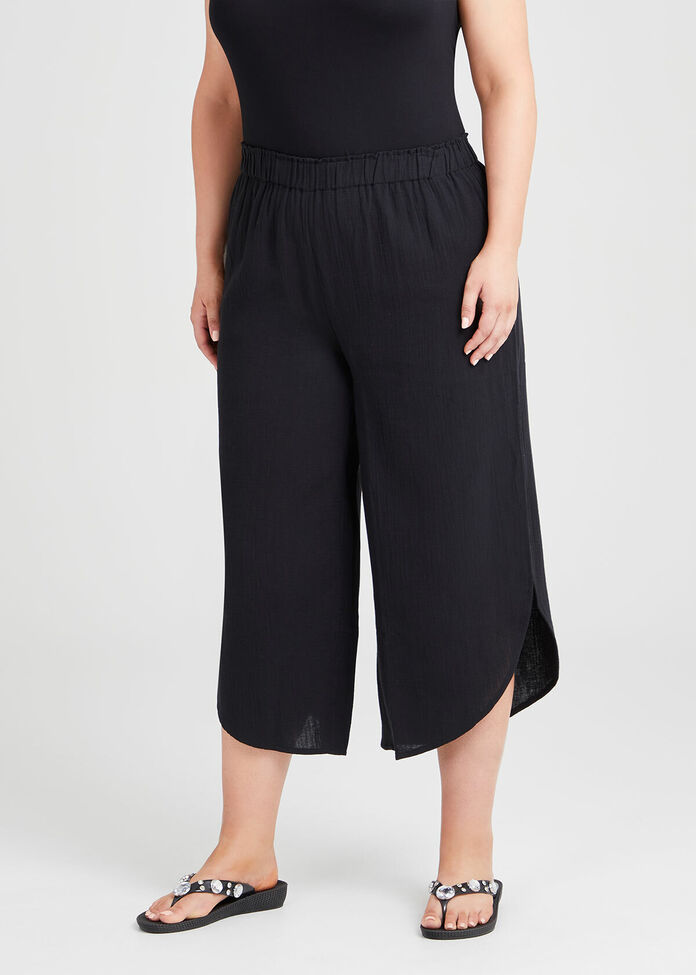 Cotton Overlay Pant, , hi-res
