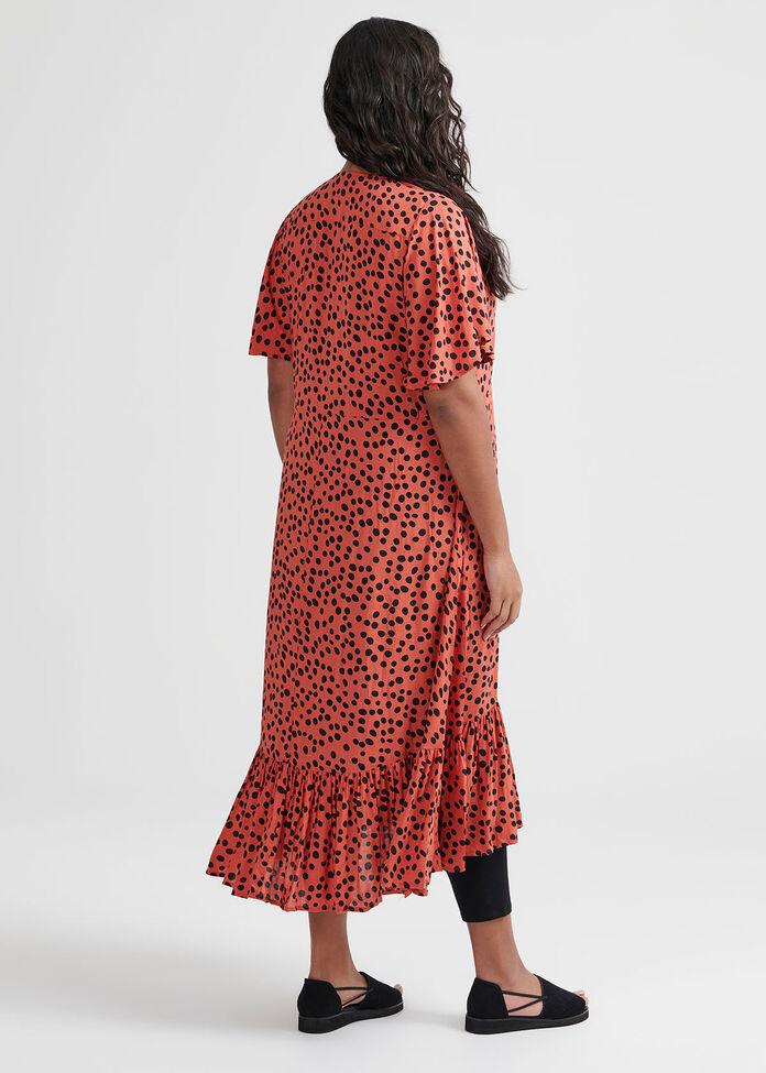 Spot The Frill Dress, , hi-res