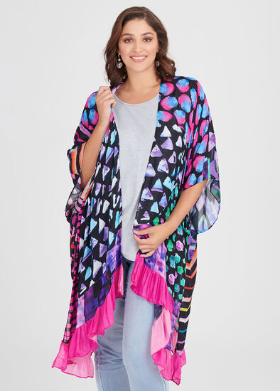 Bright Ruffle Cape