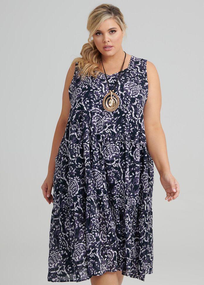 Paisley Blues Dress, , hi-res