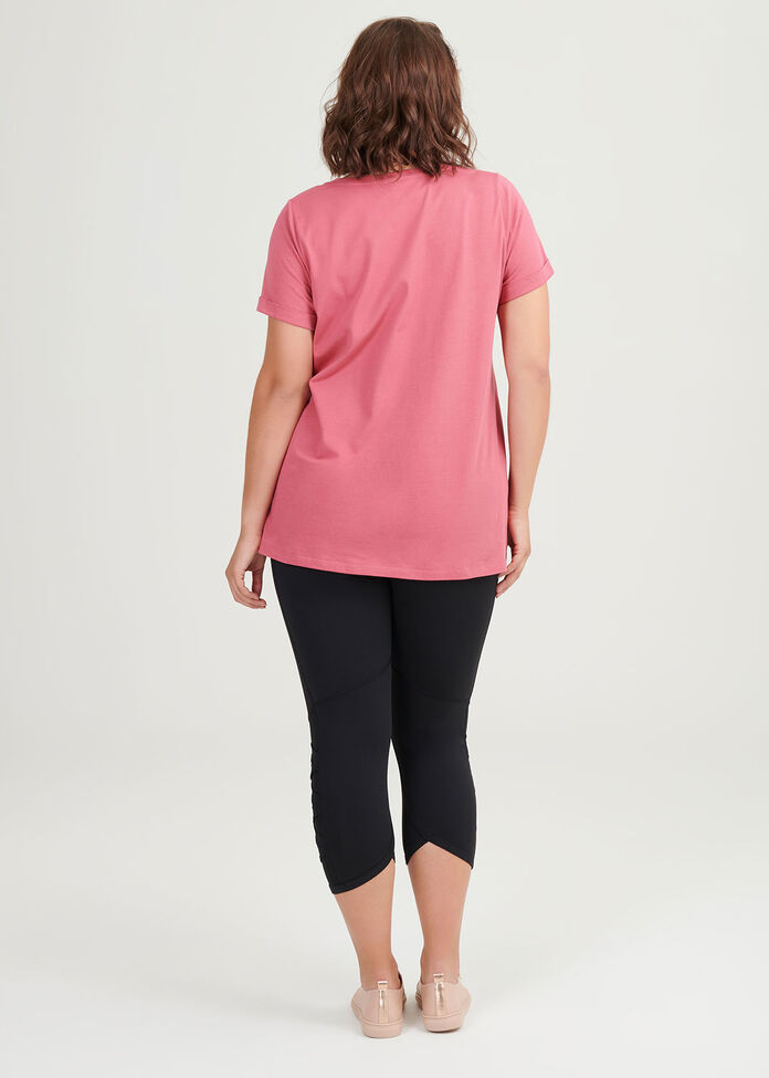 Organic Pink Active Top, , hi-res