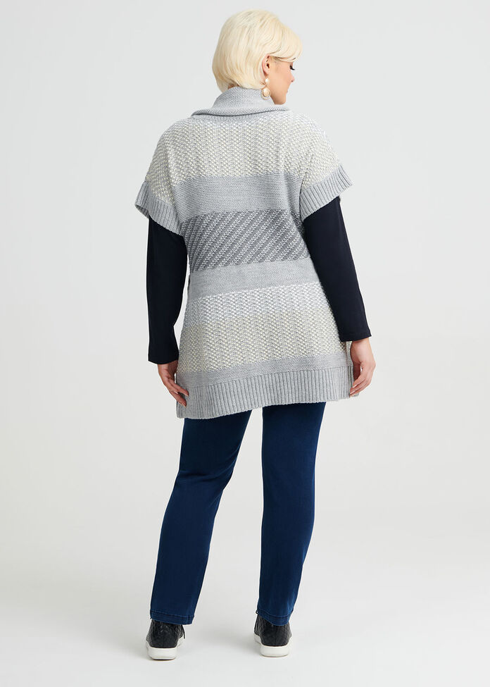 Mixed Up Cowl Jumper, , hi-res