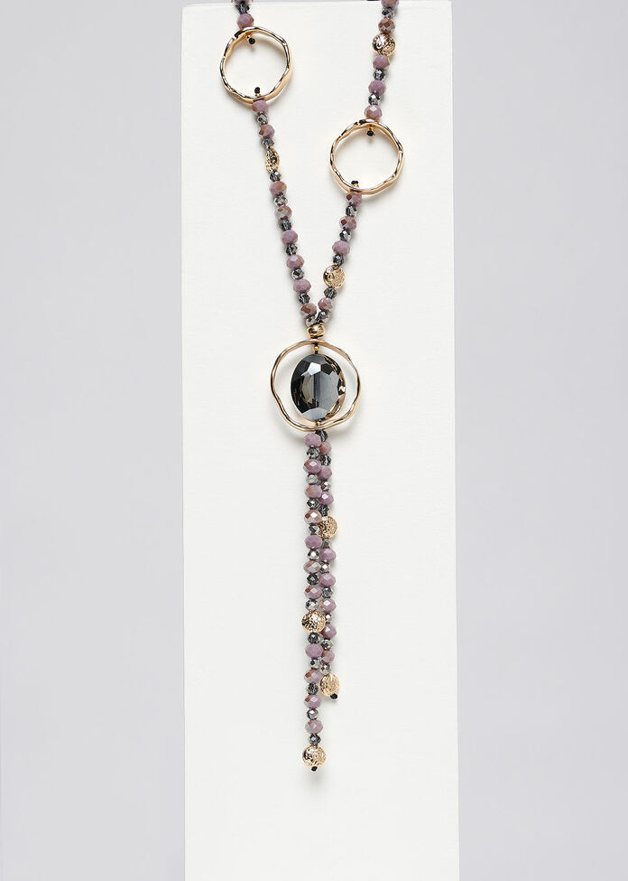Glam Gold Ring Necklace, , hi-res
