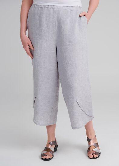 Aj Linen Crop Pant