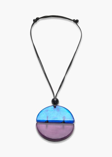 Two Tone Resin Necklace