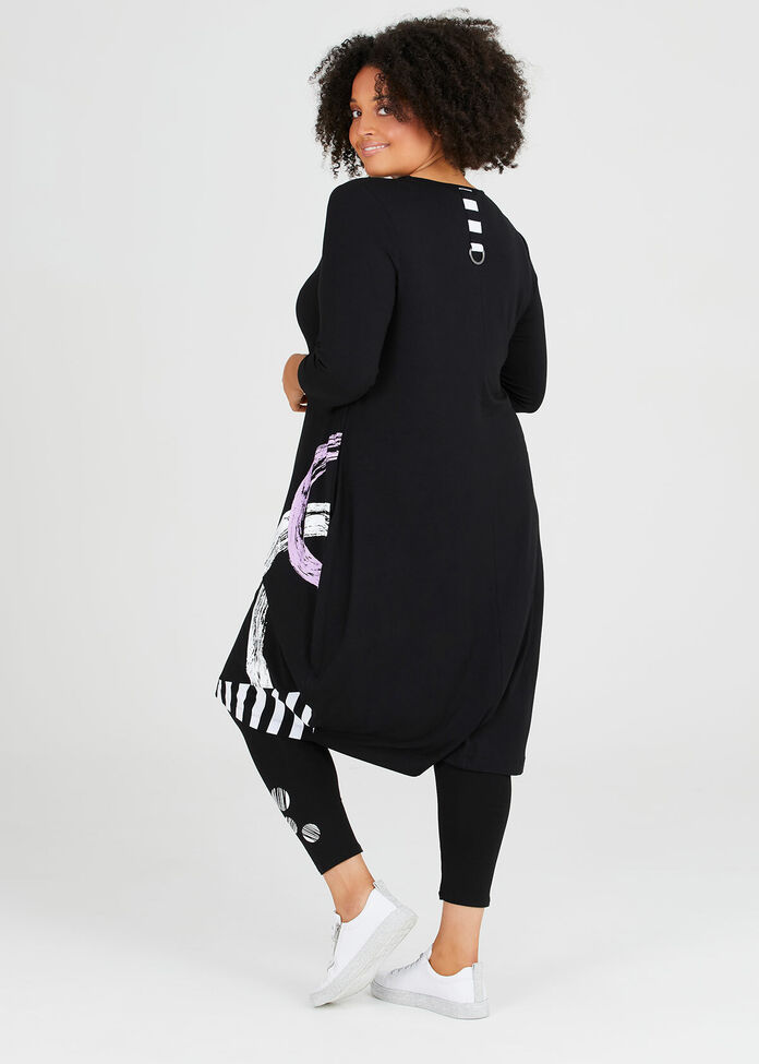 Natural In Line 3/4 Sleeve Dress, , hi-res