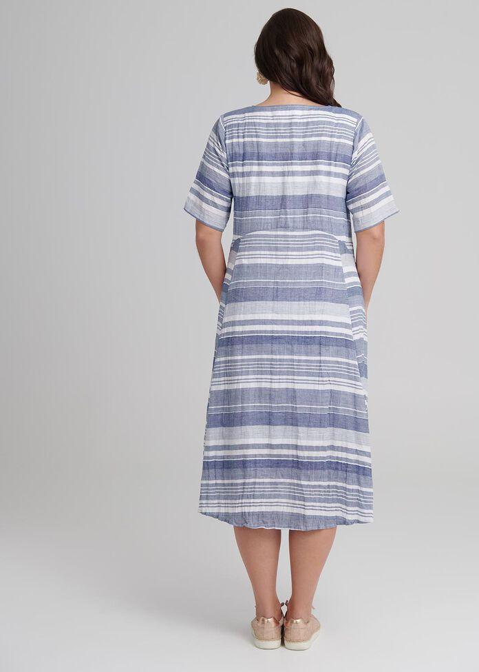 Wedgwood Stripe Dress, , hi-res