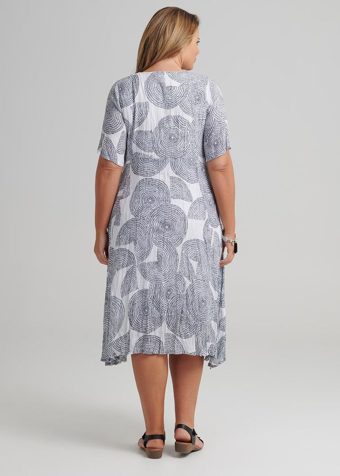 Abstract Circles Dress, , hi-res