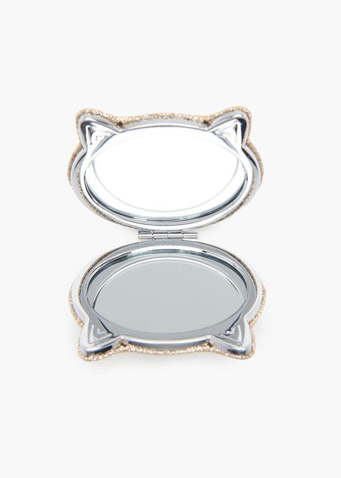 Cat Compact Mirror, , hi-res