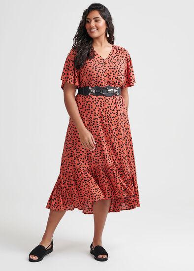 Spot The Frill Dress