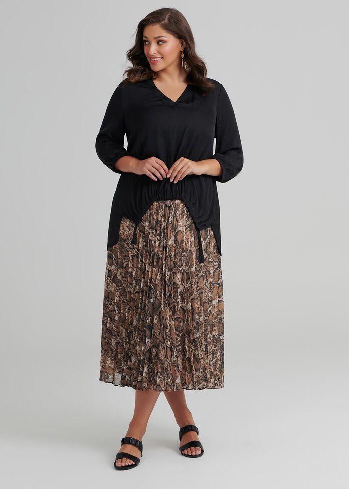Society Pleat Skirt, , hi-res