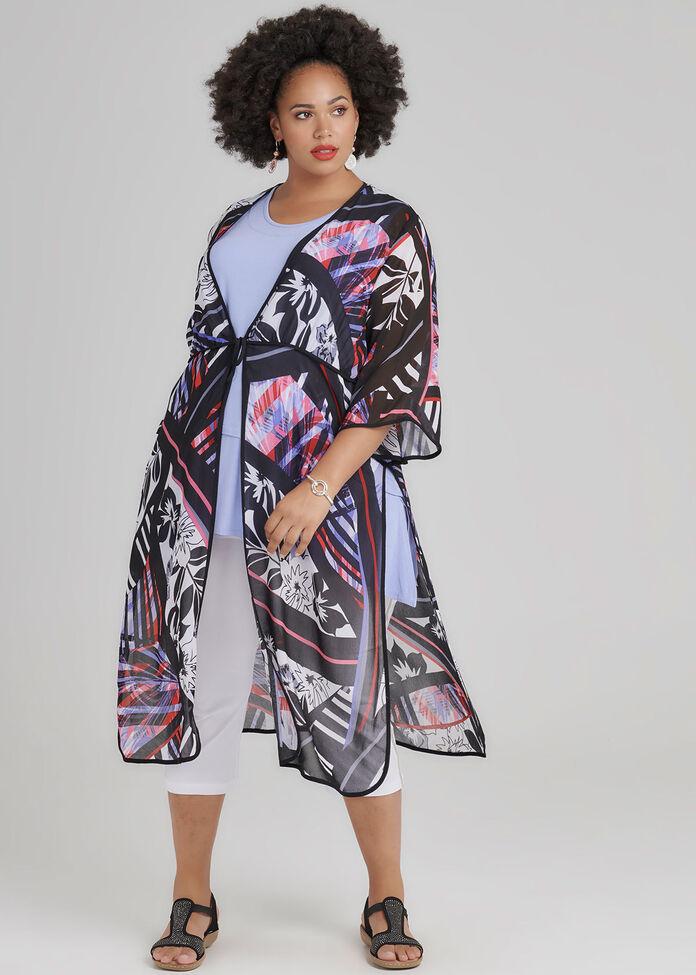 Bon Voyage Kimono, , hi-res