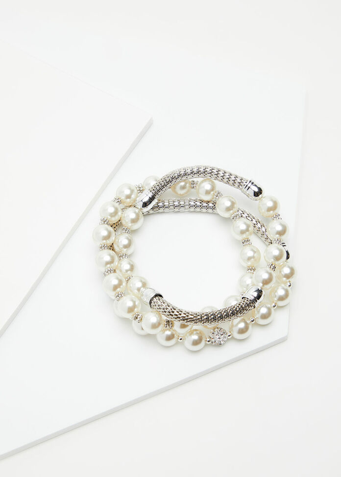Pearl Bracelet Stack, , hi-res