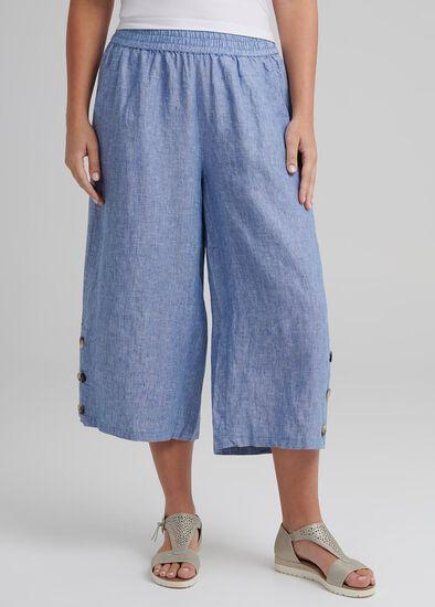 Linen Breeze Crop Pant