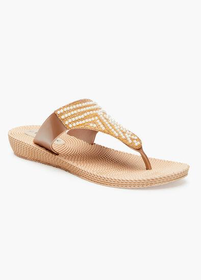 Pearl Wedge Jelly Sandal