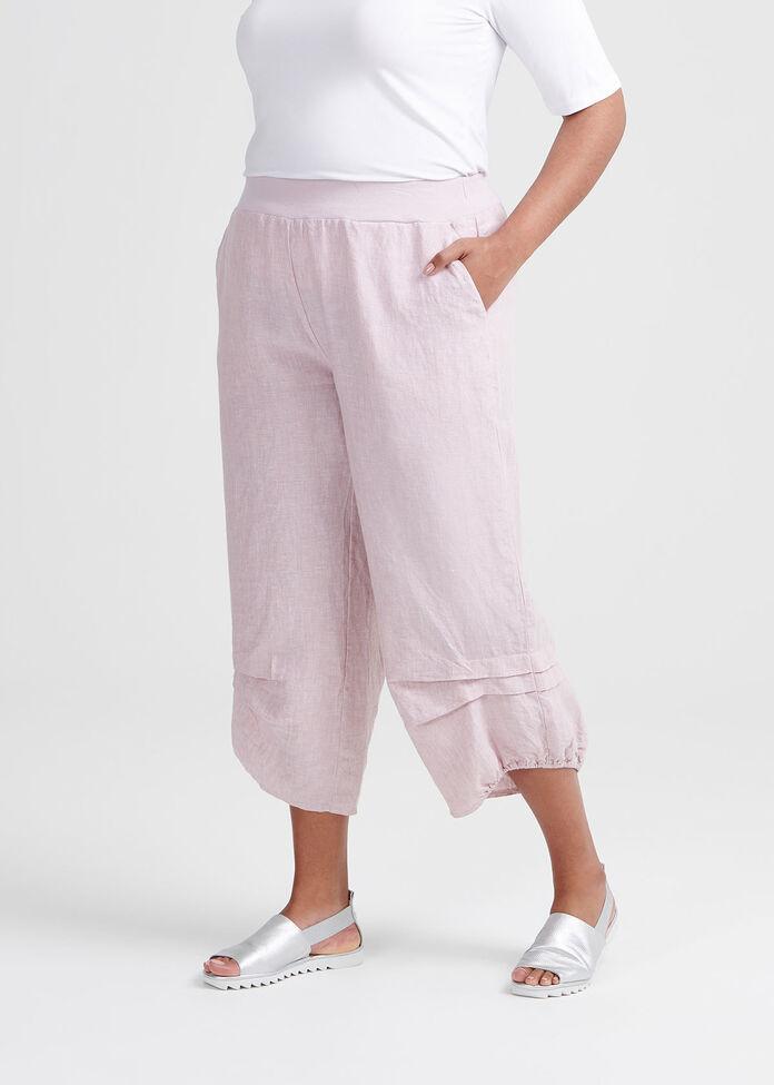Toile Linen Crop Pant, , hi-res