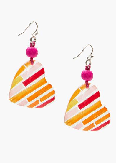 Heart Stripe Earrings