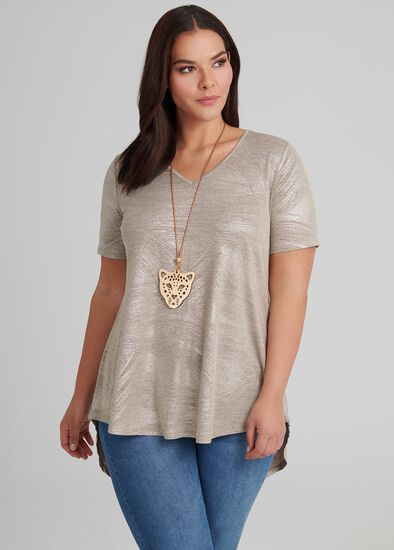Metallic Durban Tunic