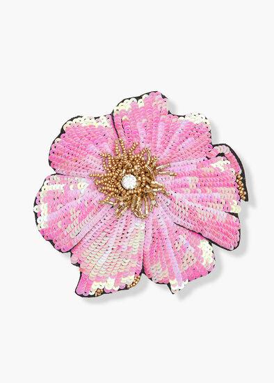 Sequin Flower Brooch