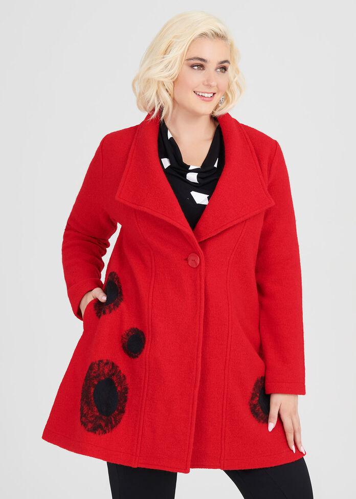 Frankie Boiled Wool Coat, , hi-res