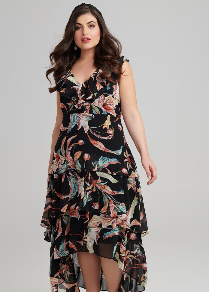 Lyndel High Low Dress, , hi-res