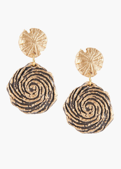 Paper Swirl Earrings