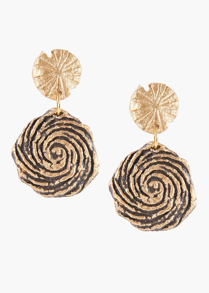 Paper Swirl Earrings, , hi-res