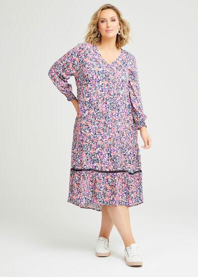 Natural Pastel Ditsy Dress