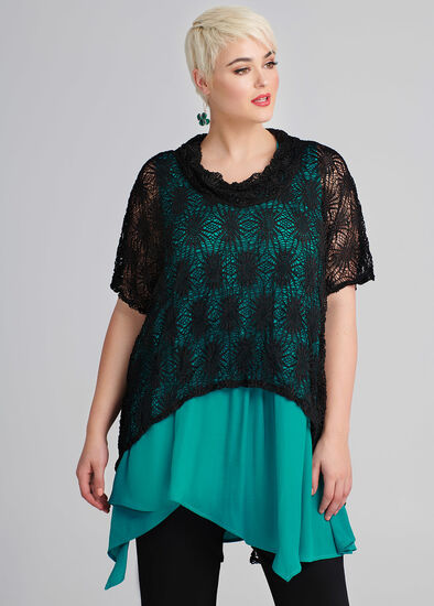 Map It Out Lace Top