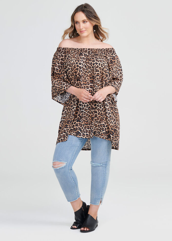 Natural Leopard Tunic, , hi-res